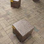 【扇町駅】カンテレ扇町スクエア前広場の休憩場所