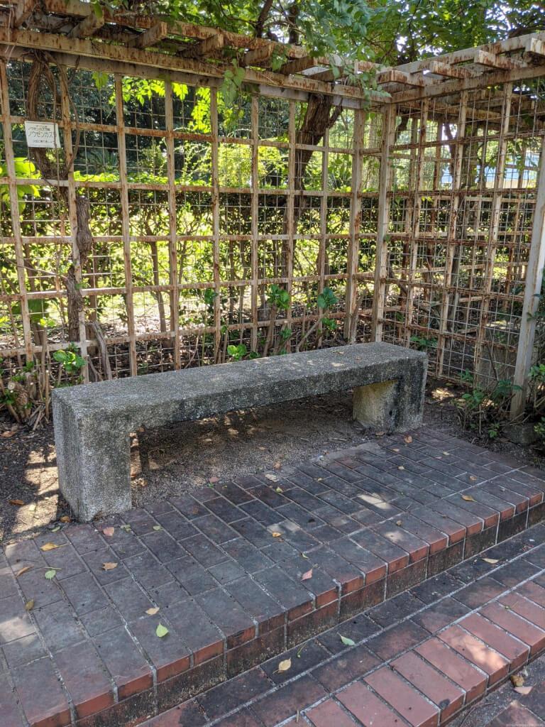 【武庫之荘駅】大井戸公園内の休憩場所2